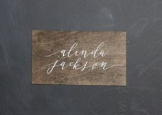 Custom handwritten calligraphy wood place by shopCharlieWhiskey