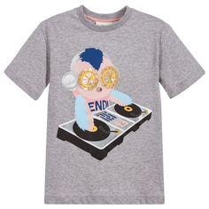 f822f97d7a9 Fendi - Girls  Piro-Chan  Grey T-Shirt