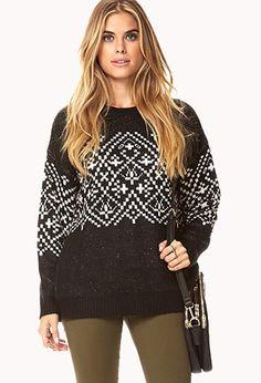 Essential Fair Isle Sweater | LOVE21 - 2000050764