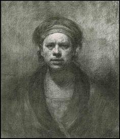 Odd Nerdrum - Self portrait (drawing)