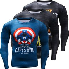 6b59aab1 Funny Captain America Punisher 3D Printed Quick Dry T shirts Men Costume  Long Sleeve Compression Shirt Fit Clothing-in T-Shirts from Men's Clothing  ...