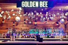 Golden Bee bar in London opened in June 2012 to reveal a stunning new late-night cocktail bar, club and roof terrace. Located on Old Street amongst the buzz of Shoreditch, you can enjoy rooftop drinks on a stylish terrace with views over East London. The cocktail list is playful and delicate with choices such as Nutella Martini, Passion fruit Mojito, Strawberry Collins, Pomegranate Cosmo, etc!