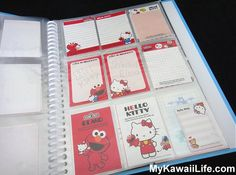 Hello Kitty & Elmo Mini Memos from MyKawaiiLife.com