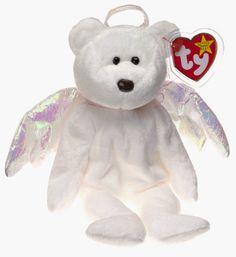 6a0496174cc Amazon.com  Ty Beanie Babies - Halo the Angel Bear  Toys   Games