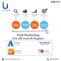 We at Litost India provide the best paid marketing service for search engines.