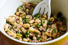 Kalyn's Kitchen®: Recipe for Spicy Cannellini Bean Salad with Tuna, Peperoncini, and Parsley