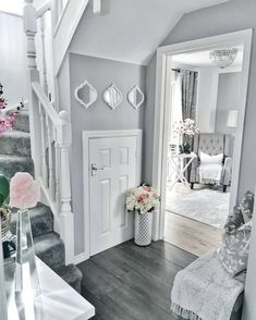 fantastic hallway decorating ideas for your home 7 Decor Home Living Room, Home Decor Kitchen, Decor Room, Wall Decor, Hallway Inspiration, Home Decor Inspiration, Design Inspiration, Grey Hallway, Hallway Ideas Entrance Narrow
