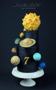 Solarsystem Cake  ----- Sonnensystem Torte