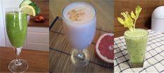 3 koktajle odchudzająco - detoksykujące - Stopnadwadze.pl Glass Of Milk, Smoothie, Food, Essen, Smoothies, Meals, Yemek, Eten
