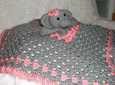 Elephant Security Blanket by FieldsofDaises on Etsy, $21.50