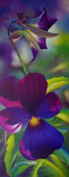 """""""Here's Johnny!"""" Original acrylic painting by Judy Leila Schafers, 37"""" x 15"""""""