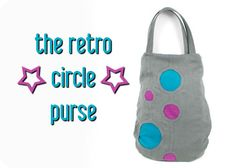Free Tutorial: A retro purple with circle reverse applique sewing pattern #diy