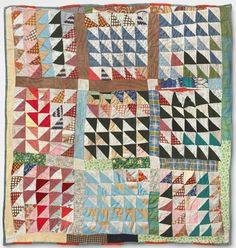 Philadelphia Museum of Art - Collections Object : Triangles in Squares Quilt