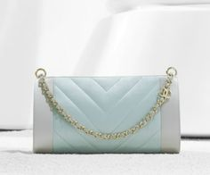 Chanel evening bag in chevron quilted satin (Spring-Summer Chanel Purse, Chanel Chanel, Chanel Bags, Chanel 2015, Chevron Quilt, Evening Bags, Spring Summer, Handbags, Purses