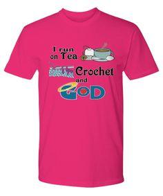 Please share! Tea, Crochet and God Tee - Premium Tee #nancysnook58