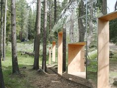 the invisible barn by STPMJ mirrors the californian woodland