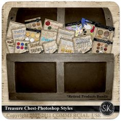 Commercial Use Treasure Chest - Styles Treasure Chest, Digital Scrapbooking, Commercial, Photoshop, Tools, Studio, Ideas, Products, Thoughts