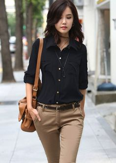 trousers elastic on sale at reasonable prices, buy New 2015 Fashion Casual Women Long Sexy Pants Korean Spring Straight Slim Fit Office Work Wear OL Pants Woman Trousers from mobile site on Aliexpress Now!