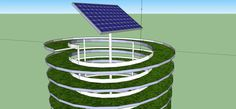Google Sketchup green growing concept