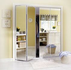 1000 id es sur le th me portes de placard miroir sur for Porte pliante miroir