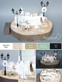"Stampin& by Djudi& - Christmas Centerpiece Tutorial ""Edgelits . - Stampin& by Djudi& – Christmas Table Center Tutorial ""Edgelits … - Christmas Trends, Christmas Diy, Christmas Centerpieces, Christmas Decorations, Stampin Up, Winter Karten, Deco Table Noel, Diy Tumblr, Diy Presents"