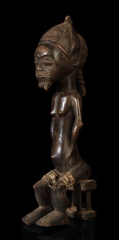 A small Baule sculpture of the Central Bouake region