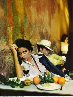 "enjoycolorfullife:  gypsealife Ruven Afanador - Ana Beatriz Barros in ""Pasion en Sevilla"" editorial for Vogue Spain, March 2004"