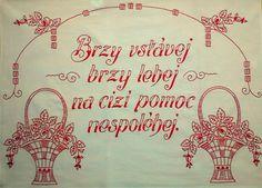 vyšívaná kuchařka Ručně vyšívané bavlněné bílé plátno, rozměr cca 80x60 cm. Možnost po domluvě zhotovit v jiné barvě vyšívky, případně i plátna s dodáním nejpozději do čtyř týdnů. Embroidery Patterns, Diy And Crafts, Decals, European Countries, Czech Republic, Embroidery, Tags, Decal, Embroidery Designs