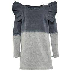 The BRAND Flounce Dress Grey Mel Dip Dye