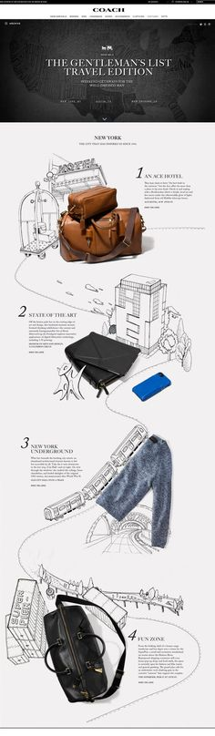 Coach Gentlemen's List by Kathrin Laser, via Behance: