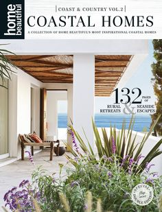 Home Beautiful's Coast & Country special double edition is out now! Beautiful Cover, Courtyards, Coastal Homes, Woven Rug, White Walls, Hearth, Country Style, Seaside, Pergola