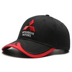 mitsubisi summer baseball caps 3D embroidered Mitsubishi hat cap car logo racing baseball cap hat adjustable casual trucket hat
