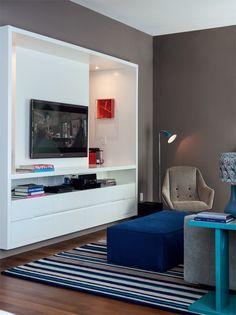 Apartamento grande em São Paulo tem tons de aconchego - Casa  Projeto:arquitetos Antonio Ferreira Junior e Mario Celso Bernardes
