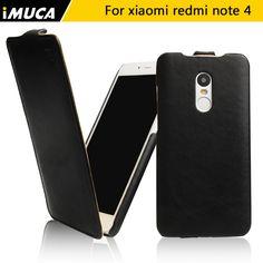 Imuca case voor xiaomi redmi note 4 case cover redmi note 4 pro prime luxe flip lederen case capa originele verpakking