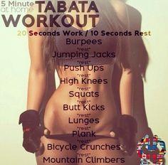 5 min tabata workout