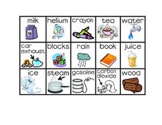 FREEBIE ~ Matter - Solid, Liquid and Gas Sort