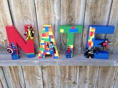Custom Handmade Lego Superhero Themed por TheLittleThingsHouse, $13.00