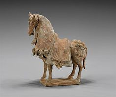 NORTHERN WEI POTTERY PARADE HORSE - by I.M. Chait