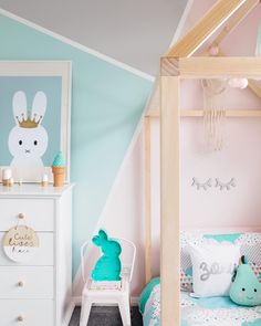 For those you who want to liven up your walls, we've rounded up some more fun and unusual colour blocking ideas. You can always switch up the colours or even the designs, but these rooms will definitely inspire you to get painting. #kidsroom #kidsinterior #kidsroomdecor #kidsroominspo #petitandsmall