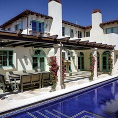 Spanish style homes – Mediterranean Home Decor Mediterranean Architecture, Spanish Architecture, Mediterranean Style Homes, Spanish Style Homes, Spanish House, Spanish Colonial, Spanish Revival, Spanish Pool, House Architecture