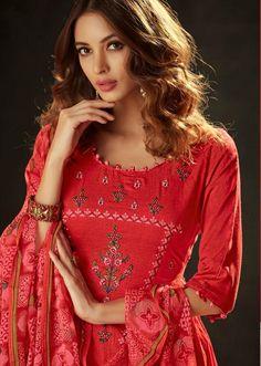 AT Presents Pichhwai vol 5 Cotton Satin Print With Embroidery Work Suit 502 Night Suit, Embroidery Suits, Work Suits, Neck Design, Kurta Designs, Salwar Suits, Salwar Kameez, Suits For Women, Fashion Dresses