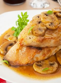 Chicken Marsala Recipe..  substitute flour - almond ?