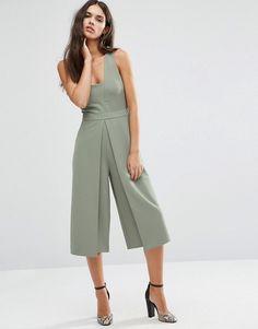 Jumpsuit with Culotte Wrap Leg Latest Fashion Clothes, Look Fashion, Urban Fashion, Runway Fashion, Fashion Outfits, Cool Outfits, Fashion Design, Fashion Online, Safari Look