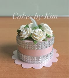 Pink Bling Tea Light Cake (made by Kim)