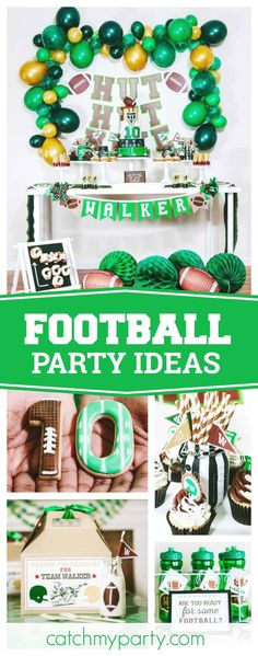 Check out this awesome Football themed birthday party.
