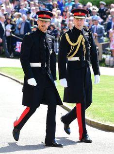 Prinssi Harry ja bestman prinssi William.