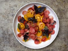 tomatoes & watermelon! #salad #vegan #rawfood
