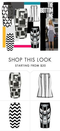 """Pencil Skirt Please!"" by nessa-stylista ❤ liked on Polyvore featuring Dorothy Perkins, Hervé Léger, Ted Baker and Zana Bayne"