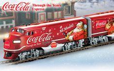 Coca-Cola Santa Train Coca Cola Santa, Coca Cola Christmas, Coca Cola Ad, Always Coca Cola, Vintage Christmas, Christmas Cards, Vintage Coke, Train Truck, Sodas