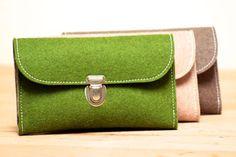 Filz-Geldbeutel ohne Plastik, in Deutschland hergestellt. KHAFFEE® Plastikfreie Taschen und Geldbeutel. www.khaffee.de
